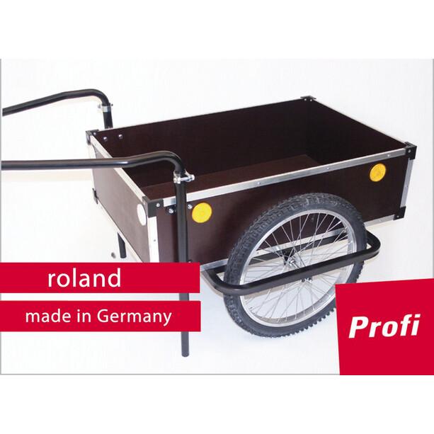 "Roland Profi Anhänger 20"" Doppeldeichsel holz/metall"