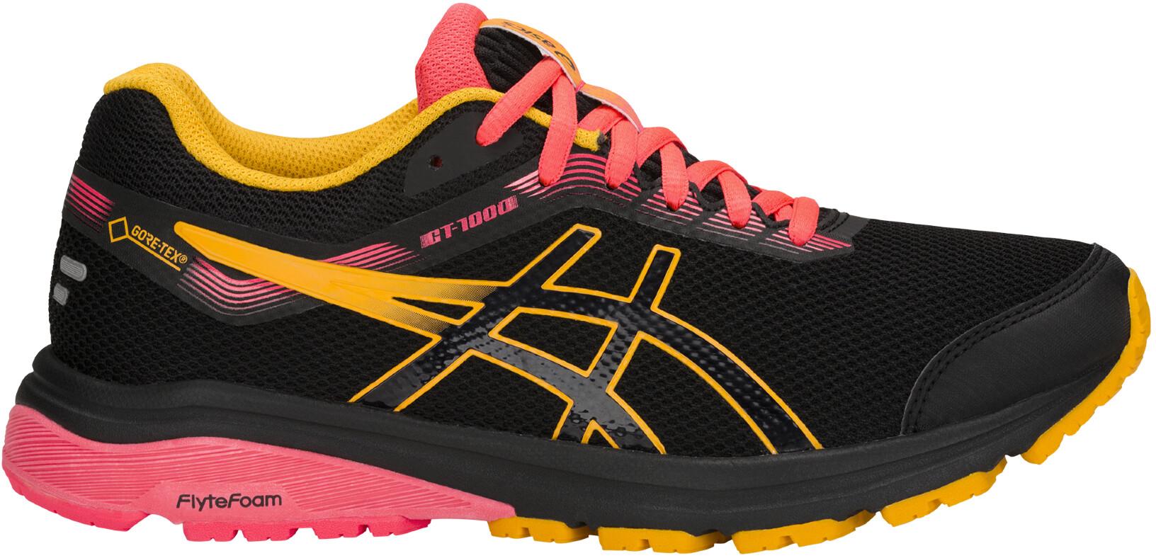 6d35118634a Chaussures Femmes  chaussures Asics Femme GT-1000 7 Gore-Tex Chaussures De  Course Baskets Sneakers Noir Sport