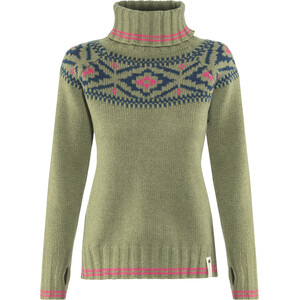 Devold Ona Round Sweater Damen oliv oliv
