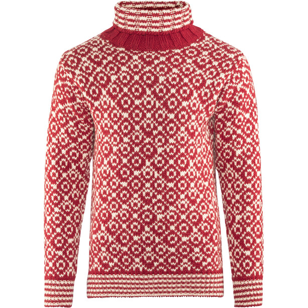 Devold Svalbard High Neck Sweater Herr hindberry/offwhite