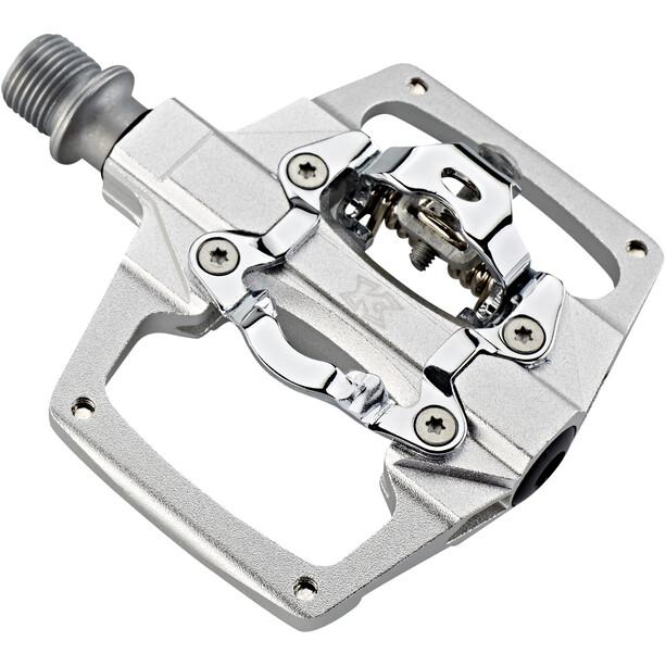 KCNC AM Trap Klickpedale Dual Side silver