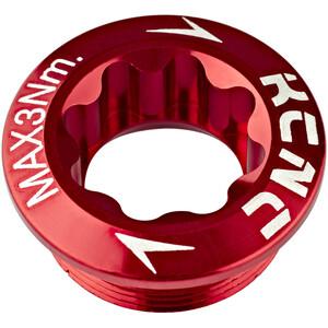 KCNC Kurbelschraube für Shimano Kurbel Arm Links rot rot