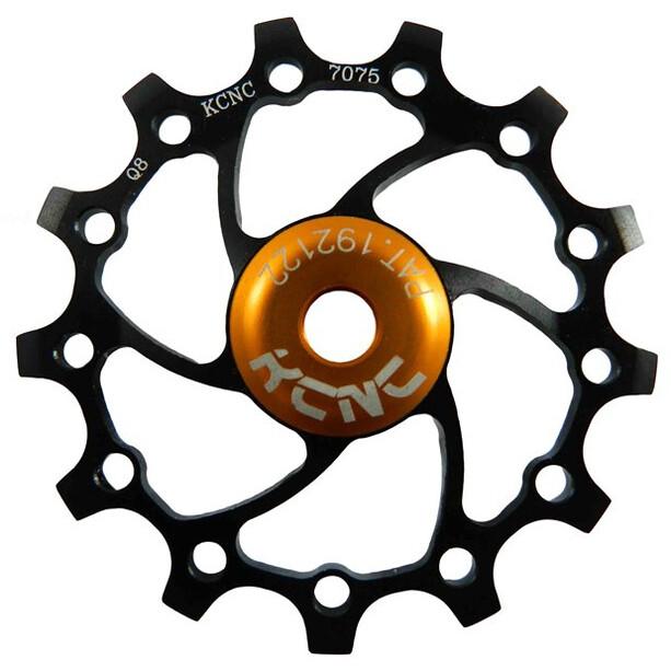KCNC Jockey Wheel SS Bearing Narrow Wide Long Teeth 14 Zähne black