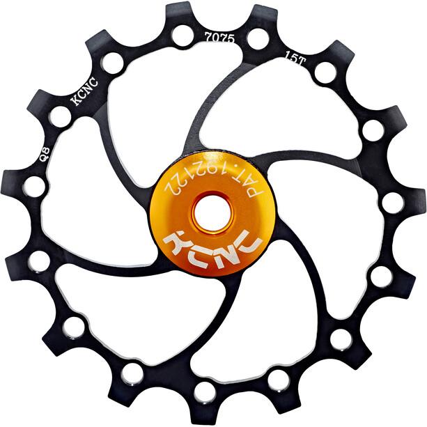 KCNC Jockey Wheel Original SS Bearing Long Teeth 15 Zähne schwarz