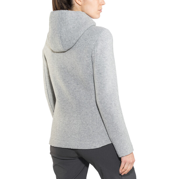 SALEWA Sarner 2 Lagen Woll Full-Zip Hoodie Damen silver