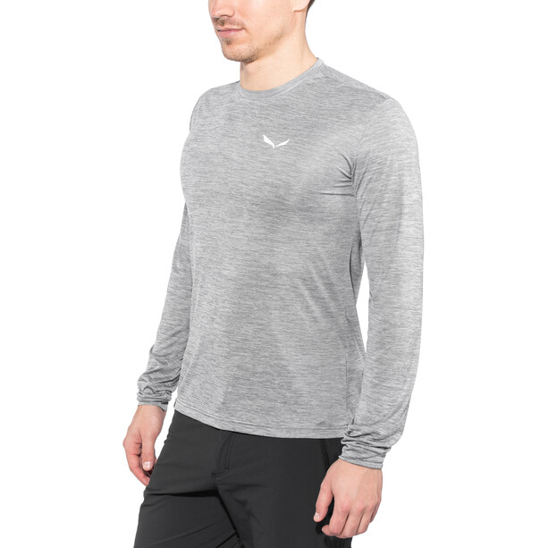 SALEWA Puez Melange Dry Langarm T-Shirt Herren quiet shade melange