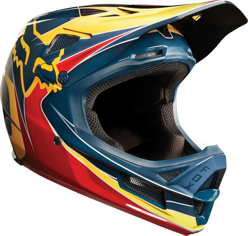 Fox Rampage Pro Carbon Kustom Helmet Men red/yellow S   55-56cm 2018 Fahrradhelme