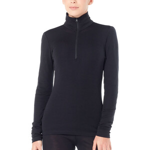 Icebreaker 175 Everyday Langarm Half-Zip Oberteil Damen black black