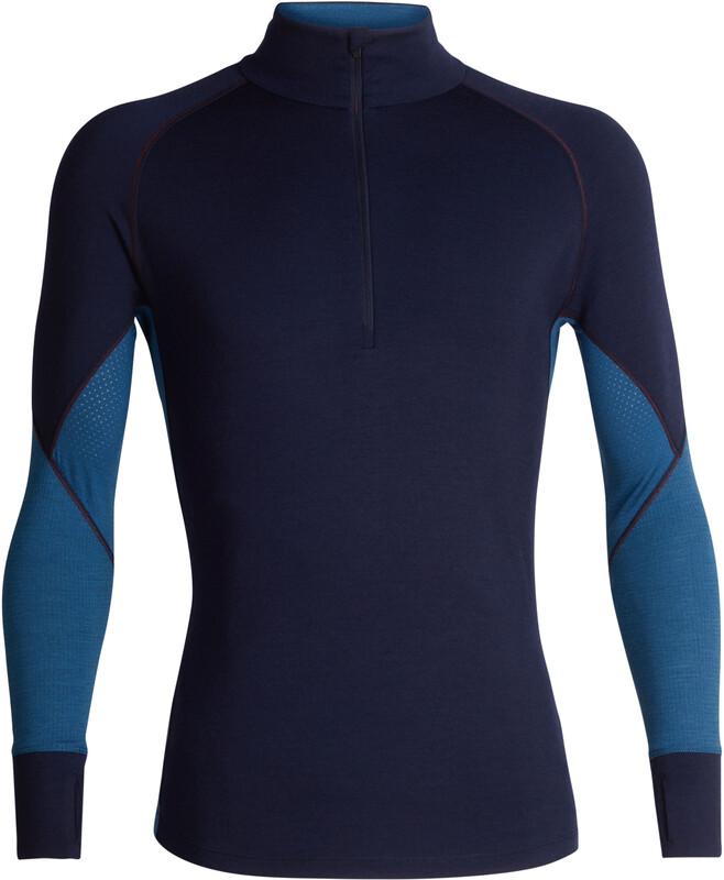 Icebreaker 260 Zone LS Half Zip Shirt Men Midnight Navy/Prussian Blue S 2018 Accessoires