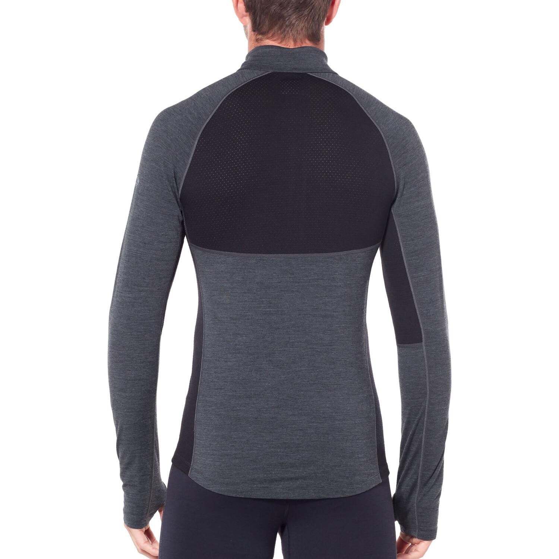 Icebreaker 200 Zone Langarm Half-Zip Shirt Herren jet heather/black