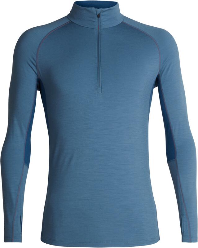 Icebreaker 200 Zone LS Half Zip Shirt Men Granite Blue/Prussian Blue L 2018 Accessoires