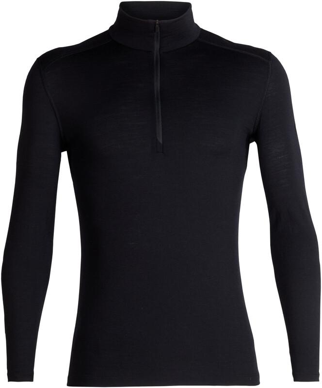 Icebreaker 200 Oasis LS Half Zip Shirt Men Black L 2018 Accessoires