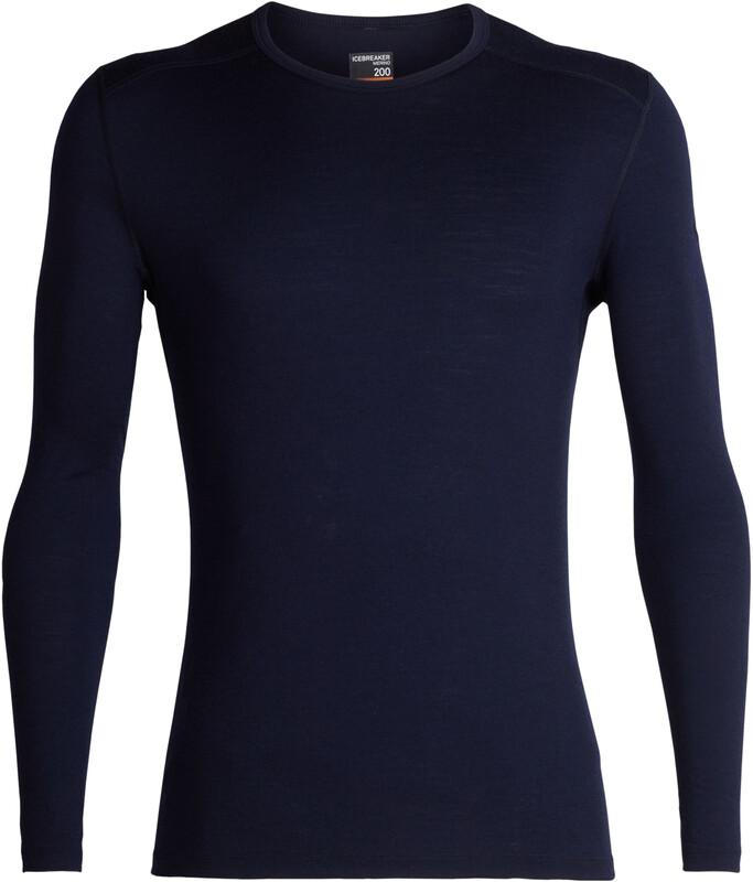 Icebreaker 200 Oasis LS Crew Shirt Men Midnight Navy S 2018 Accessoires