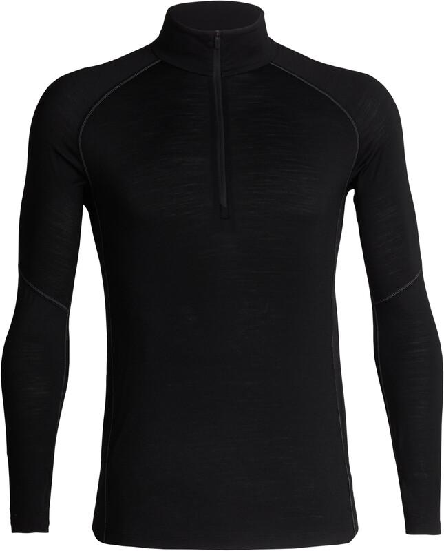 Icebreaker 150 Zone LS Half Zip Shirt Men Black/Mineral XXL 2018 Accessoires