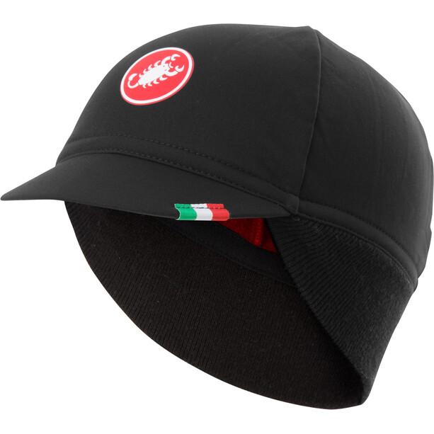 Castelli Difesa Vinterkasket, black/red