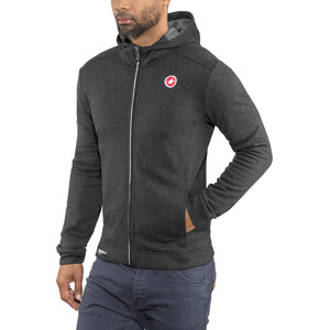 Castelli Milano Full-Zip Fleecejacke Herren melange light black melange light black