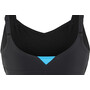 arena Jolie Wing Back Low C-Cup One Piece Badeanzug Damen black-turquoise-white