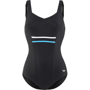 arena Jolie Wing Back Low C-Cup One Piece Badeanzug Damen black-turquoise-white black-turquoise-white