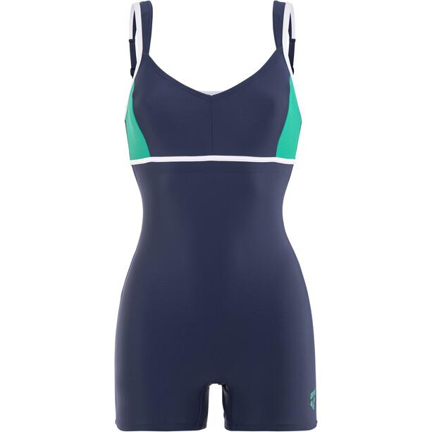 arena Venus Combi Bodysuit Damen navy-persian green-white