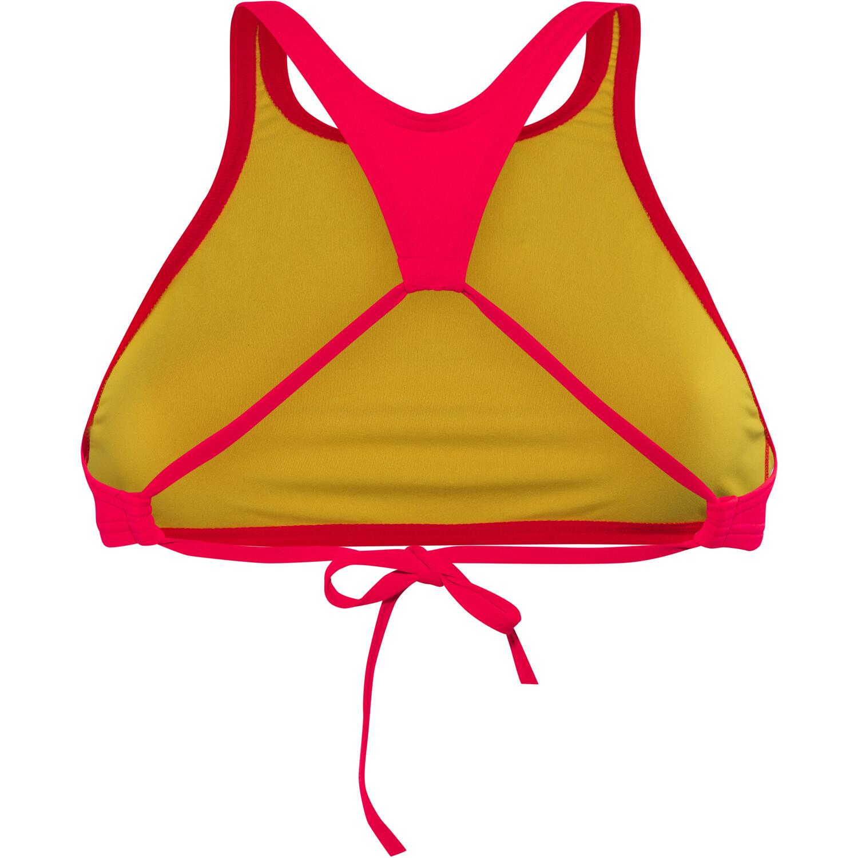 arena Think Crop Top Damen fluo red-yellow star