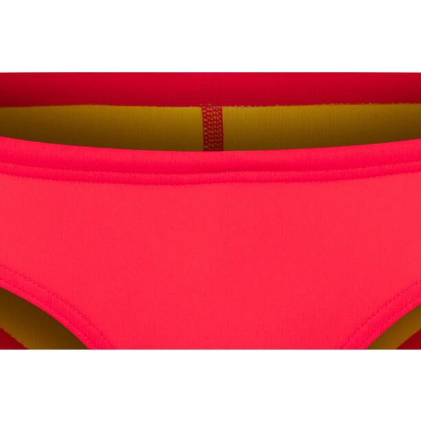 arena Unique Bikini Slip Damen fluo red-yellow star