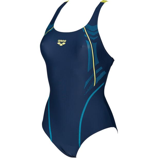 arena Energy Swim-Pro One Piece Badeanzug Damen navy-soft green
