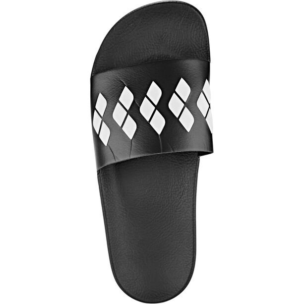 arena Team Stripe Slide Sandalen black-black-white