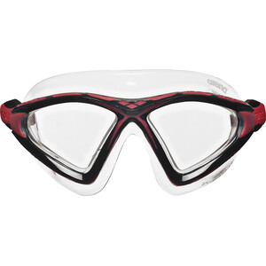 arena X-Sight 2 Maske clear-clear-red clear-clear-red