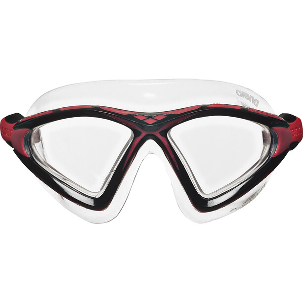 arena X-Sight 2 Maske clear-clear-red