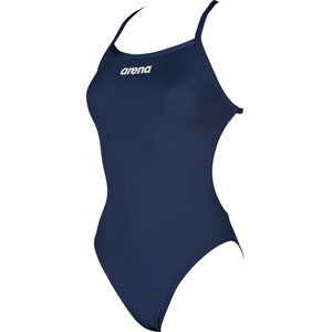 arena Solid Light Tech High One Piece Badeanzug Damen navy-white navy-white