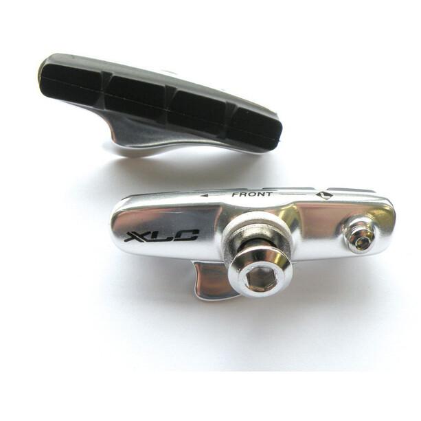 XLC Cartridge BR-R02 Road Bremsschuhe 55mm für Karbonfelgen 4 Stück silber/blau