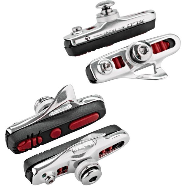 XLC Cartridge BS-R04 Bremsesko ABS 4 stykker 55mm, sølv/rød
