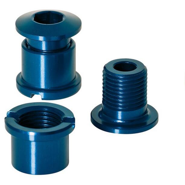 XLC Chainring Bolts 16g, med gänga, set med 5 blue