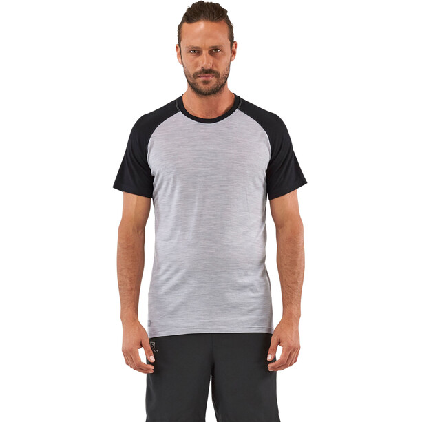 Mons Royale Temple Tech T T-shirt Herr black/grey marl