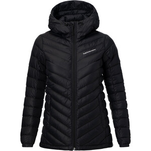 Peak Performance Frost Down Hooded Jacke Damen black black