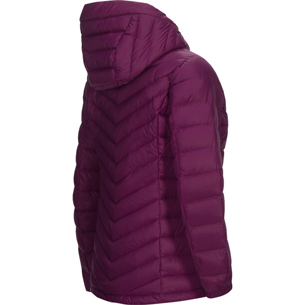 Peak Performance Frost Down Hooded Jacke Damen blood cherry