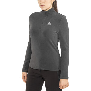 Odlo Roy 1/2 Zip Midlayer Damen shale grey-black stripes shale grey-black stripes