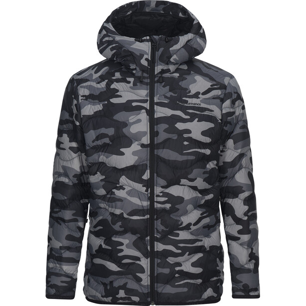 Peak Performance Helium Down Hooded Jacket Herr pattern