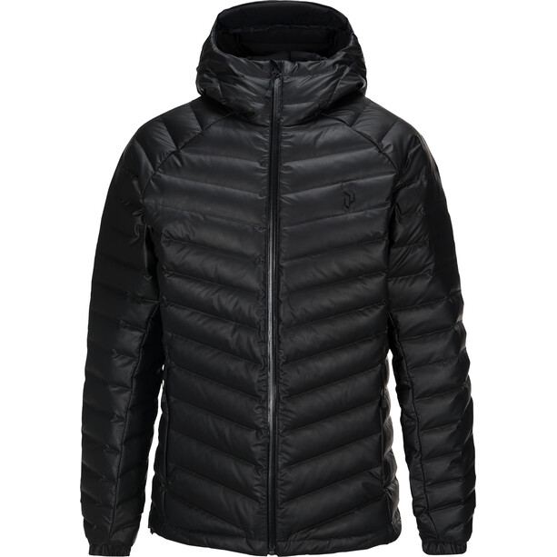 Peak Performance Frost Dry Down Hooded Jacket Herr black