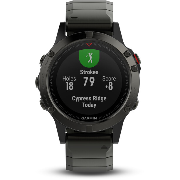 Garmin Fenix 5 Sapphire GPS Smartwatch + Gelbes Band