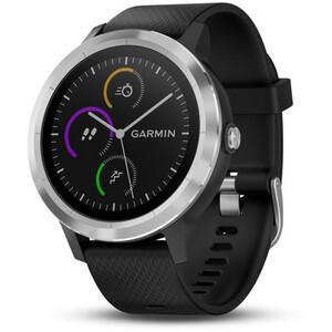 Garmin vívoactive 3 GPS Sportuhr mit schwarzem Silikonarmband edelstahl edelstahl