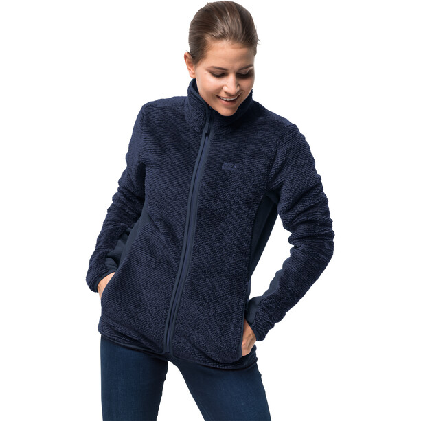Jack Wolfskin Pine Leaf Jacke Damen midnight blue stripes