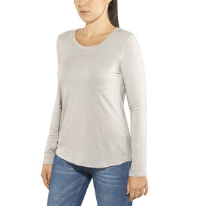 Prana Foundation Langarm Rundhalsshirt Damen light grey heather light grey heather