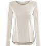 Prana Foundation T-shirt manches longues à col ras-du-cou Femme, gris