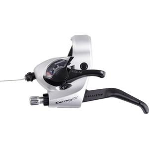 Shimano Tourney TX ST-TX800 Schalt-/Bremshebel für V-Brake Links 3-fach silber silber