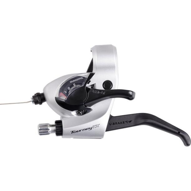 Shimano Tourney TX ST-TX800 Schalt-/Bremshebel für V-Brake Links 3-fach silber