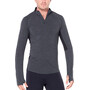 Icebreaker 200 Zone LS Half Zip Shirt Herr jet heather/black