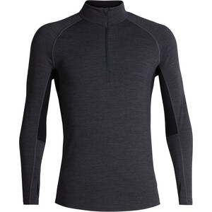 Icebreaker 200 Zone LS Half Zip Shirt Herr jet heather/black jet heather/black