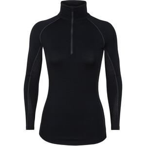 Icebreaker 200 Zone LS Half Zip Shirt Dam svart svart