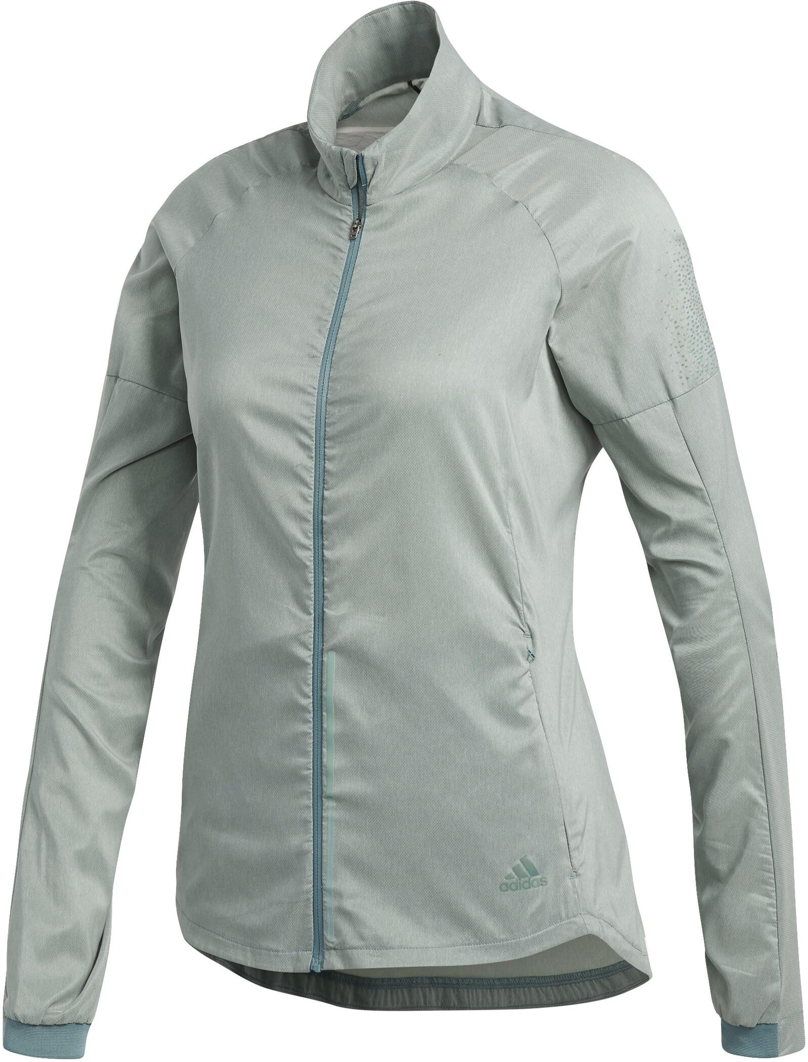 adidas Supernova Confident 3 Season Jacket Women Raw Green Colored Heather .jpg 06be054f0